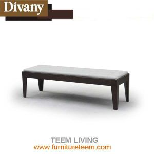 Modern Home Furniture Bedroom Wooden Leahter Bed End Stool pictures & photos
