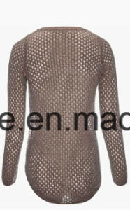Women′s Spring Top Grade Cashmere Blend Sweater with Sexy Look pictures & photos