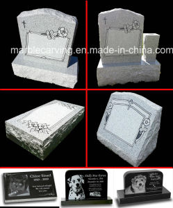 Granite Memorial Headstone with Angel for Pet Memorial Stones Personalized Headstone pictures & photos