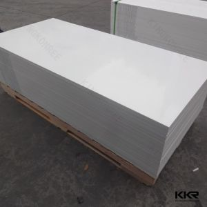 Kingkonree Wholesales 6mm Pure White Solid Surface Sheet pictures & photos