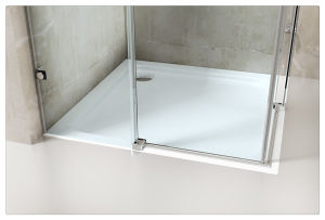 Tempered Security Glass Simple Sliding Shower Enclosure pictures & photos