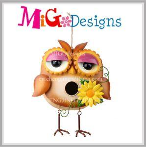 OEM Owl Shaped Garden Metal Hanging Bird Feeder pictures & photos
