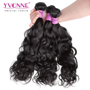 Yvonne 100% Human Hair Extension Natural Wave Brazilian Hair Extension pictures & photos