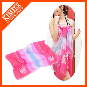 Wholesale Cheap Polyester Chiffion Beach Sarong pictures & photos