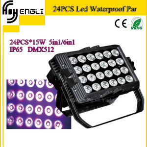 24PCS*15W 4in1 LED PAR for Stage Disco Light (HL-028) pictures & photos