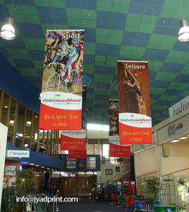 Restaurant Ceiling Advertising PVC Flex Vinyl Hang Banner pictures & photos