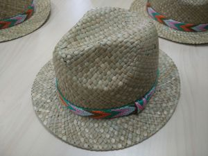 2016 Latest New Fashion Straw Hat with Mesh Woven Hatband (SW-080017)