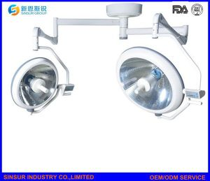 Hospital Equipment Ceiling Double Head Shadowless Halogen Surgical Operating Light/Lamp pictures & photos