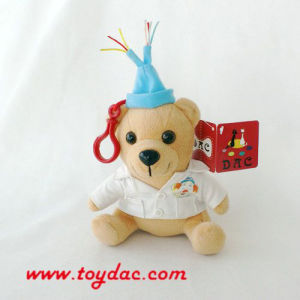 Plush Holiday Bear Key Ring pictures & photos