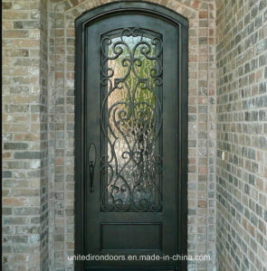 High Quality Wrought Iron Single Door Made in China (UID-S010) pictures & photos