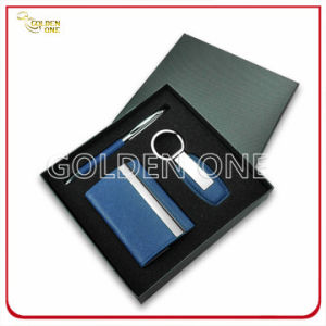 Promotion Leather Card Case and Keychain Gift Set pictures & photos
