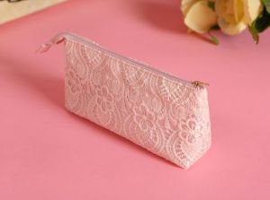 2016 New Summer Season Cute Pink and Lace Cosmetic Bag pictures & photos