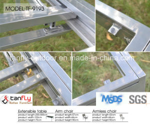 Top Quality Aluninum Frame Extensible Table and Textilene Chair pictures & photos