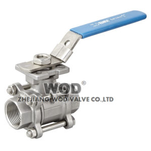 Stainless Steel DIN 3PC Ball Valve with High Mount Pad pictures & photos