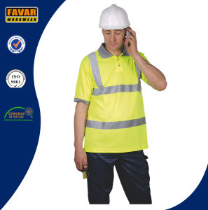 Hi-Vis Yellow Micromesh Safety Polo Shirt pictures & photos