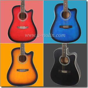"[Winzz] 41"" Linden Plywood Top Maple Finerboard Black ABS Binding Acoustic Guitar (AF229H) pictures & photos"