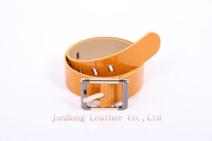 New Options Patent Leather Belt Rectangular Buckle Waist Belt pictures & photos