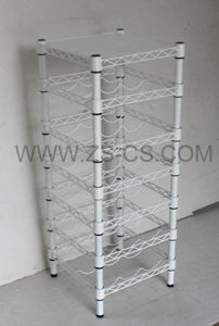 White Painting Home Use Free Standing Wine Rack (WR3025120A7E) pictures & photos