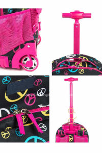 Kids Polyester Book Backpack Wheel Rolling Trolley School Bag pictures & photos