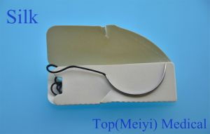 Surgical Suture with Needle- Silk Braided Surgical Suture pictures & photos