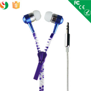 Colorful in Ear 3.5mm Zipper Earphone, Zipper Earbuds Headphone pictures & photos