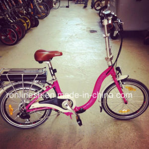 250W Folding or Foldable Electric Bicycle/Electric Bike/Pedelec/E Bike with Panasonic Battery with CE pictures & photos