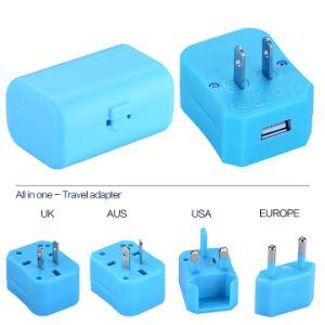 USA/UK/EUR/Aus Plug, Universal Travel Adapter with One USB Output 1000mA