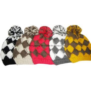 Fashion Winter Lady Acrylic Knitted Beanie Skull Hat/Cap