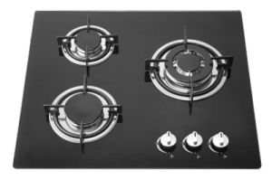 3 Burner Black Tempered Glass Cooking Top, Gas Cooker pictures & photos