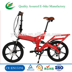 TUV Certificated Full Suspension Foldable Electric Bike pictures & photos