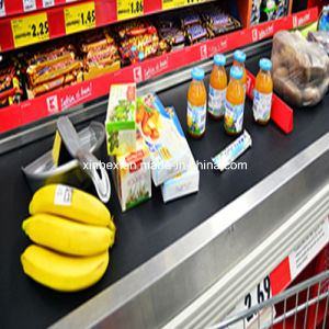 PVC Black Cash Checkout Counter Supermarket Conveyor Belt pictures & photos