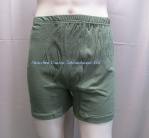 Men′s Boxer Brief in Olive Green (V3201) pictures & photos