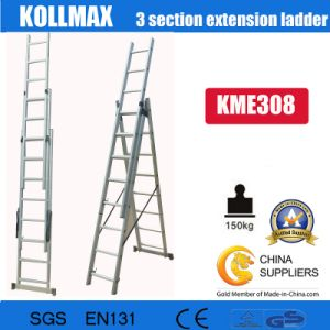 3 Section Extension Ladder with En131 Kme308 pictures & photos