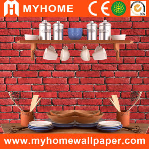 Foaming PVC 3D Wall Paper with Brick Patterns pictures & photos
