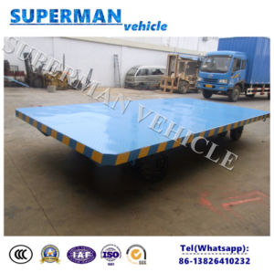 8t Flatbed Cargo Transport Industrial Drawbar Trailer pictures & photos