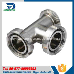 Stainless Steel Sanitary Thread Tee with Union (DY-T023) pictures & photos