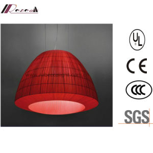 Lantern-Design Red Fabric Pendant Light for Hotel pictures & photos