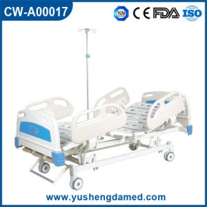 Movable Steel Folding Hospital ICU Bed Cw-A00017 pictures & photos