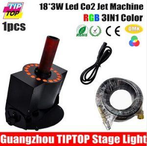 LED 18PCS*3W CO2 Jet Machine Tricolor LED CO2 Jet Stage DMX CO2 Jet Machine