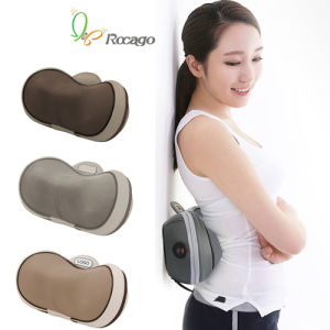Mini Travel Heating Massage Cushion Pillow for Home Car Use pictures & photos