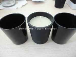 Mat/Gloss Black Glass Jar Candle pictures & photos