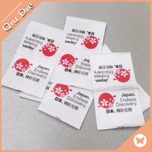 White Satin Polyester Material Printing Label for Clothing pictures & photos