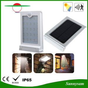 200lm Waterproof PIR Motion Sensor Solar Powered Light for Courtyard pictures & photos