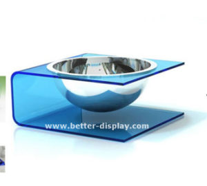 Plastic Acrylic Suction Cup Pet Food Bowl pictures & photos