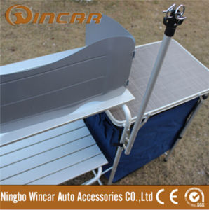 Multifunction Folding BBQ Grill Table with Cabinet pictures & photos