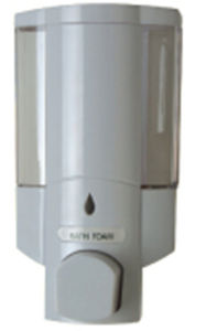 High Quality 400ml White Plastic Toilet Soap Dispenser