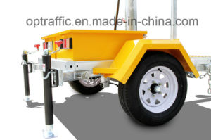 New Solar Powered Mobile LED Traffic Road Sign Vms Trailer pictures & photos