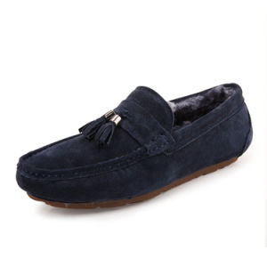 Leather Casual Shoes with Plush Fashion Leather Shoe for Men (AK9037-1) pictures & photos