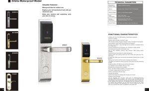 Orbita 304 Stainless steel Rifd Hotel Lock System by Free pictures & photos