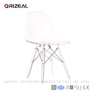 Replica Living Room Furniture Eames Dsw Side PC Plastic Crystal Dining Chair (OZ-1152PCC) pictures & photos